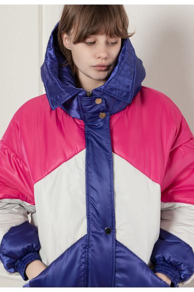 Яркая трехцветная куртка-бомбер Ройс