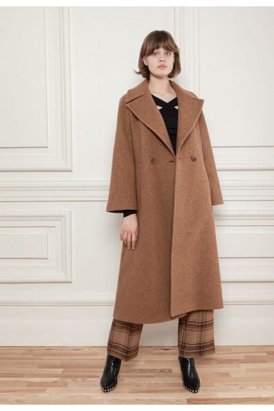 Длинное шерстяное пальто Ферли