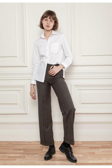Прямые брюки из костюмной шерсти Ферри