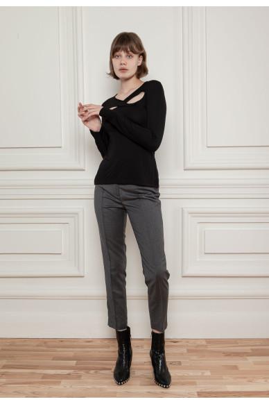 Шерстянные брюки с цепочкой Рочестер