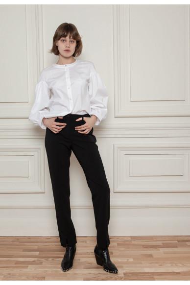Зауженные брюки из костюмного крепа Ноктюрн