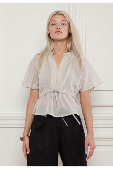 Батистовая блуза на кулиске Эсмеральда
