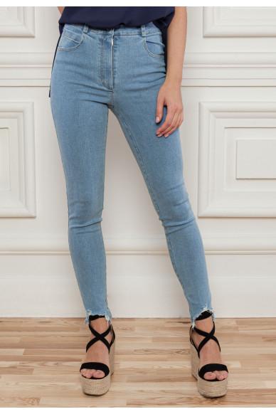 Укороченные джинсы скинни Дженнис