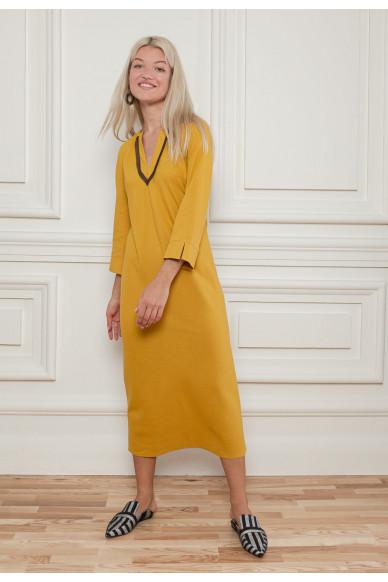 Элегантное льняное платье Вивиан