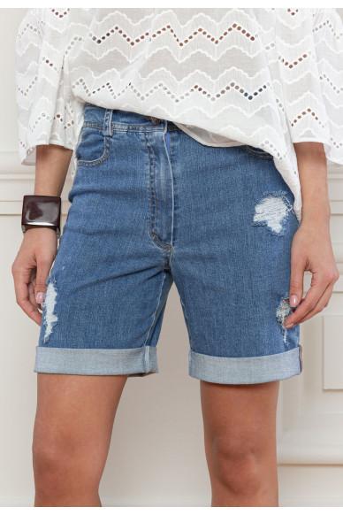 Джинсовые шорты с манжетами Хейворд