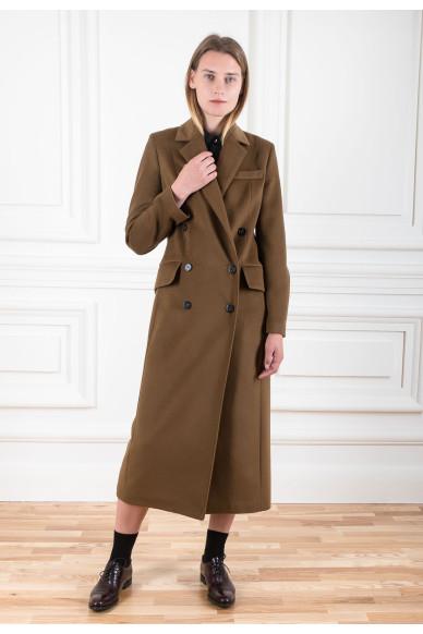 Пальто в мужском стиле из шерсти с кашемиром