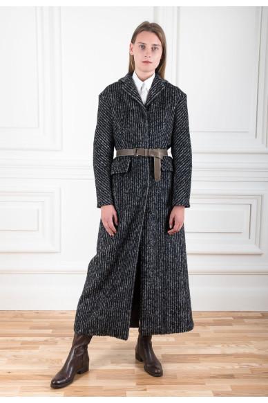 Длинное пальто из шерсти альпаки