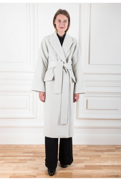 Пальто-халат из шерсти ягненка с кашемиром