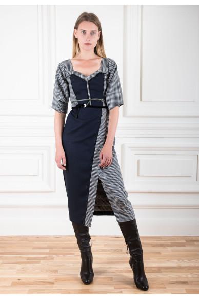 Комбінована сукня з подвійної вовняної тканини