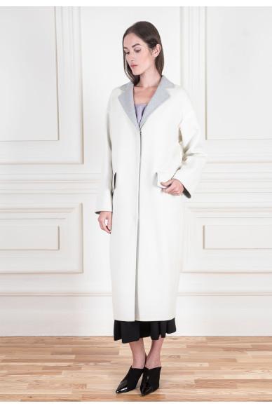 Пальто миди с ручной обработкой швов