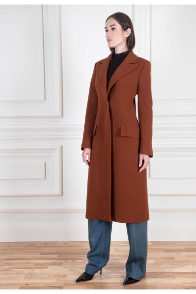 Базовое пальто из двойного шерстяного крепа