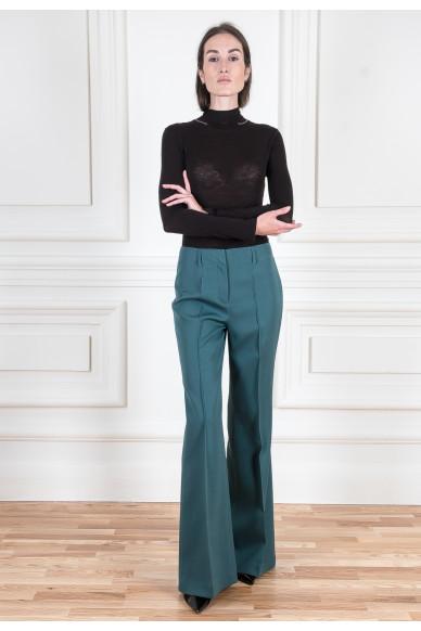 Костюмные брюки из шерстяной ткани