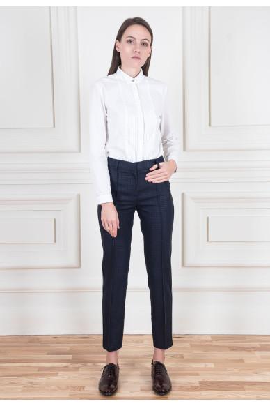 Зауженные брюки из двойного шерстяного крепа