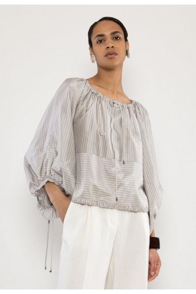 Scarlett silk twill blouse