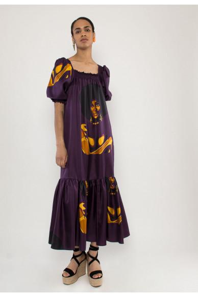 Heidi silk maxi dress