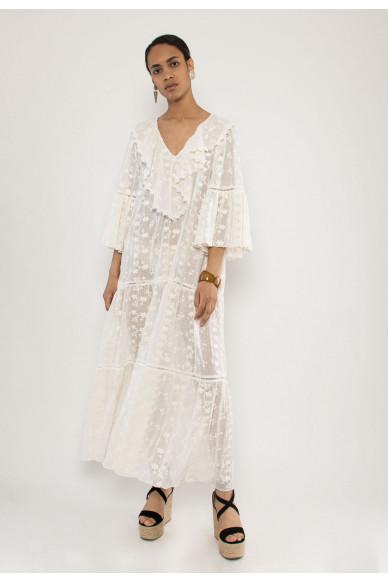 Silvia embroidery cotton voile