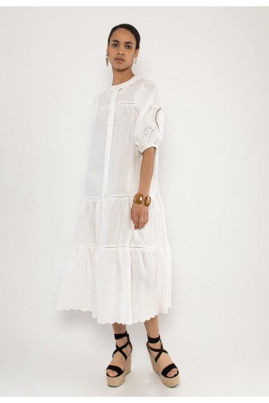 Scarlett embroidery linen dress