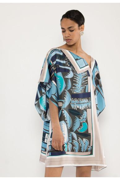 Regina silk printed dress