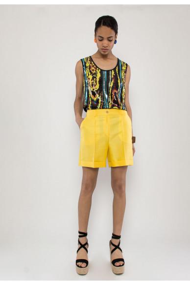 Bailee silk taffeta shorts