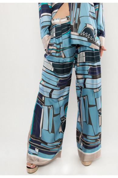 Manhattan silk printed pants