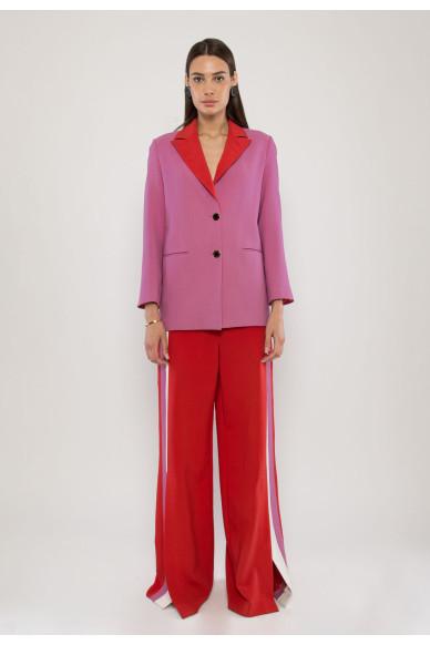 Liya tailored wool crepe jacket