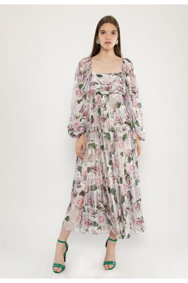 Mercury silk shiffon maxi dress