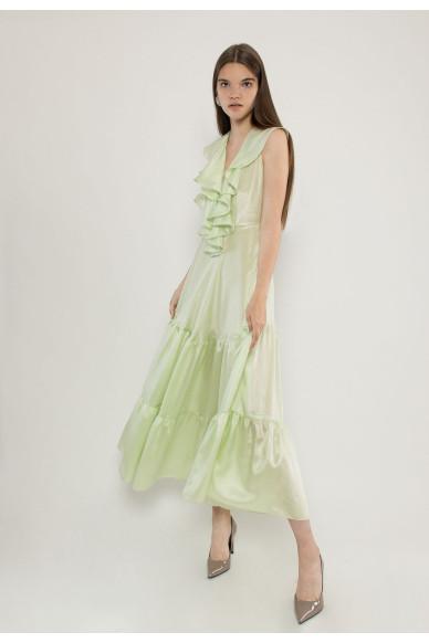 Azazel sleevless silk maxi dress