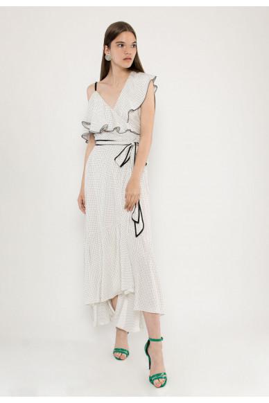 Noir sleevless silk maxi dress