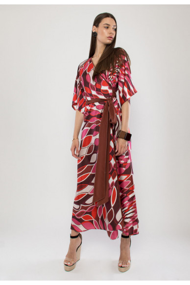 Monna silk maxi dress