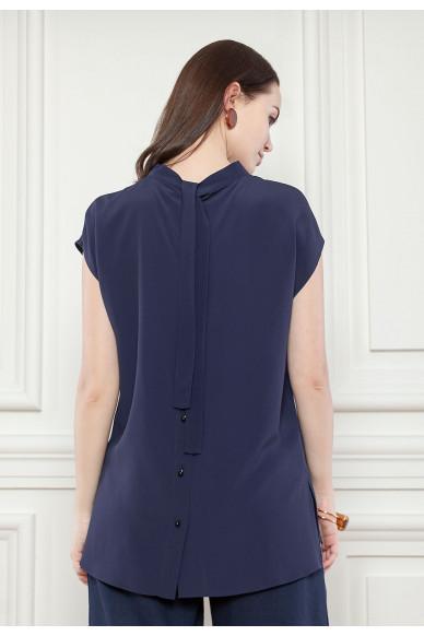 Шовкова блуза з ефектною спинкою Квінн