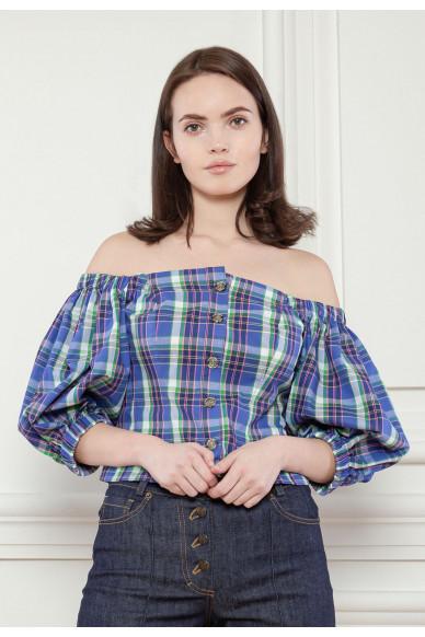 Корсетная блуза з пишними рукавами Ксав'є