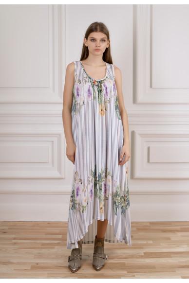 Длинное струящееся платье Брунелла