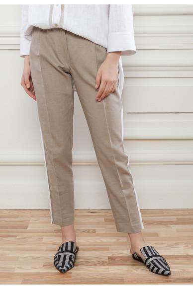 Лляні штани з защипами Барнебі