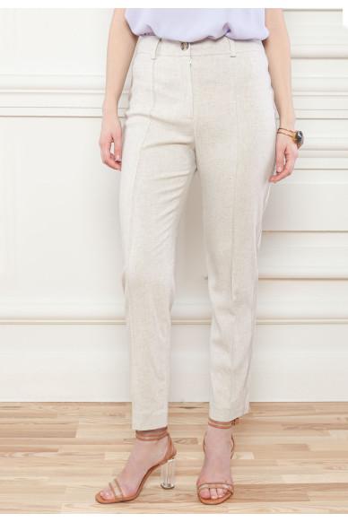 Льняные зауженные брюки Одри
