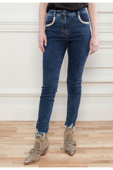 Укорочені джинси скінні Дженніс