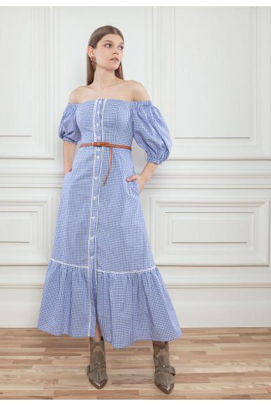Корсетное платье с пышными рукавами Ксавье