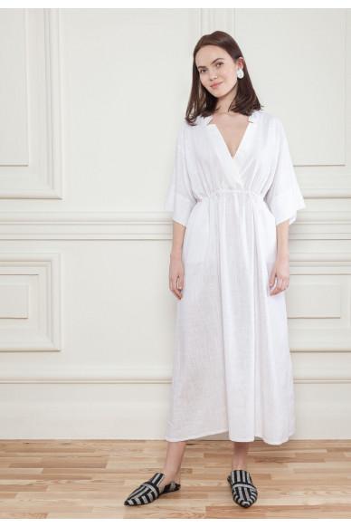 Льняное платье на кулиске Френсис