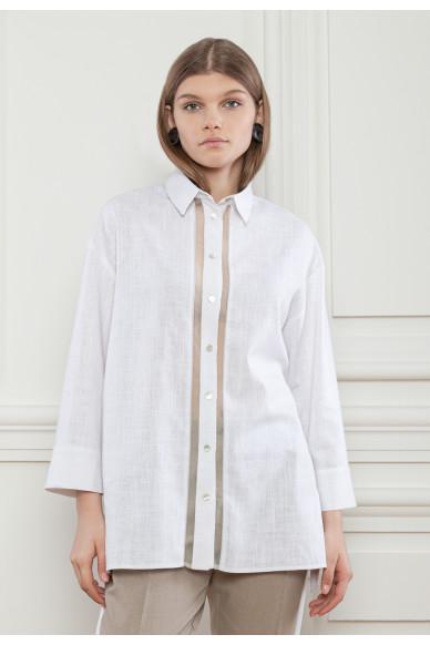 Льняная рубашка с цепочкой Ридженс