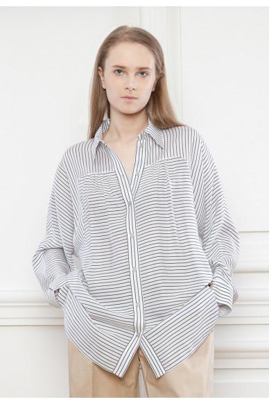 Струящаяся вискозная рубашка  Эзра