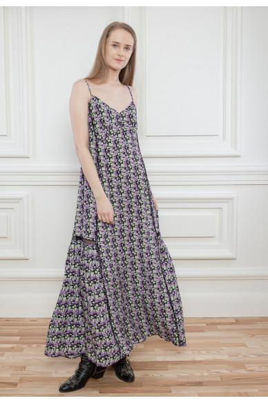 Длинный сарафан с цветочным принтом Ева