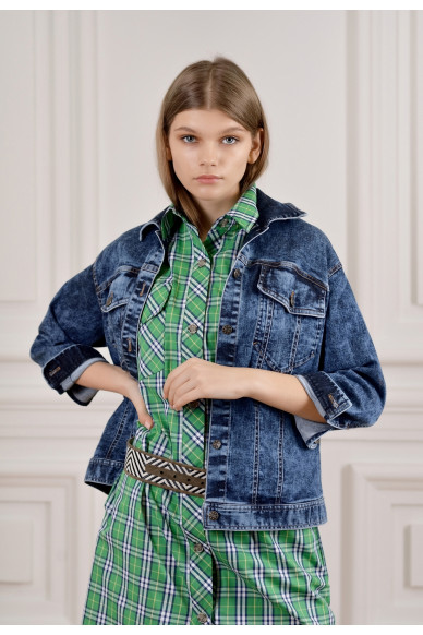 Джинсовая куртка с карманами Селеста