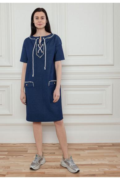 Прямое платье со шнуровкой Сиа