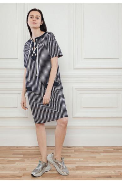 Платье в полоску из органического коттона Сиа