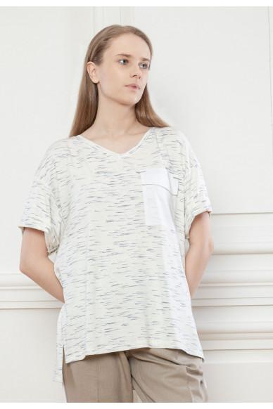 Базовая трикотажная футболка с цепочкой Рикарда