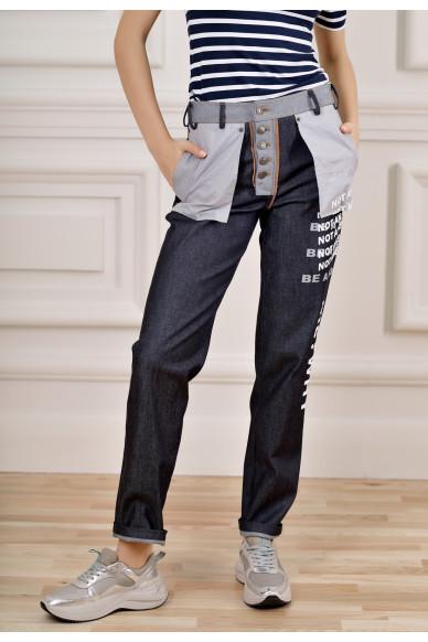 Прямі джинси з принтом Хьюго