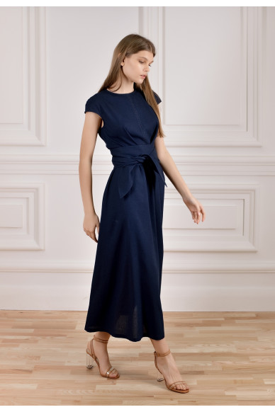 Длинное льняное платье Энрика