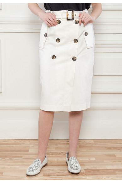 Двубортная юбка из органического коттона Алана
