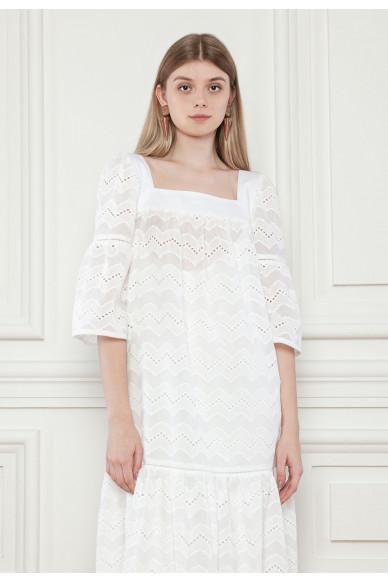 Платье с ажурной вышивкой Гвендолин