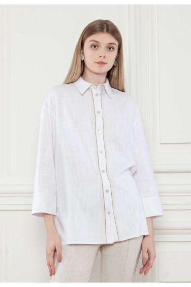 Лляна сорочка декорована ланцюжком Рідженс
