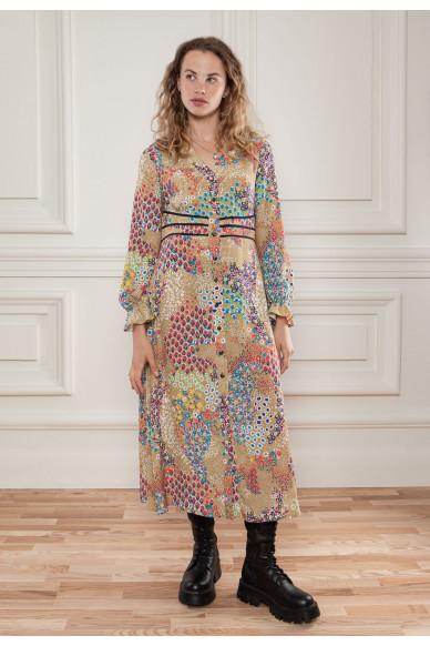 Струящееся платье с цветочным принтом Сюита